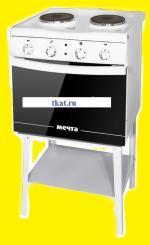 Электрическая плита Мечта 221Ч с 25 литровой духовкой  (стеклоэмаль)